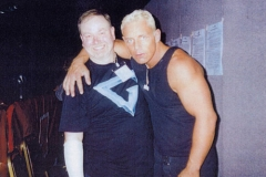 Andy With Cobra From The Gladiators