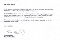 Letter From Notts County FC